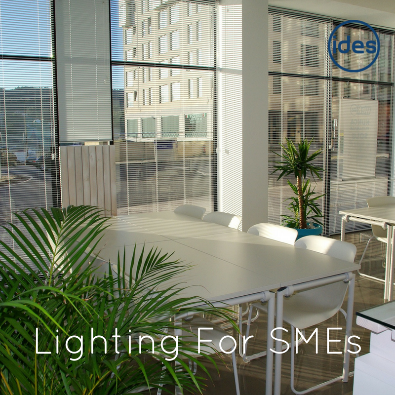 Images illustrating a blog post explaining the importance of good office lighting and lighting for SME's