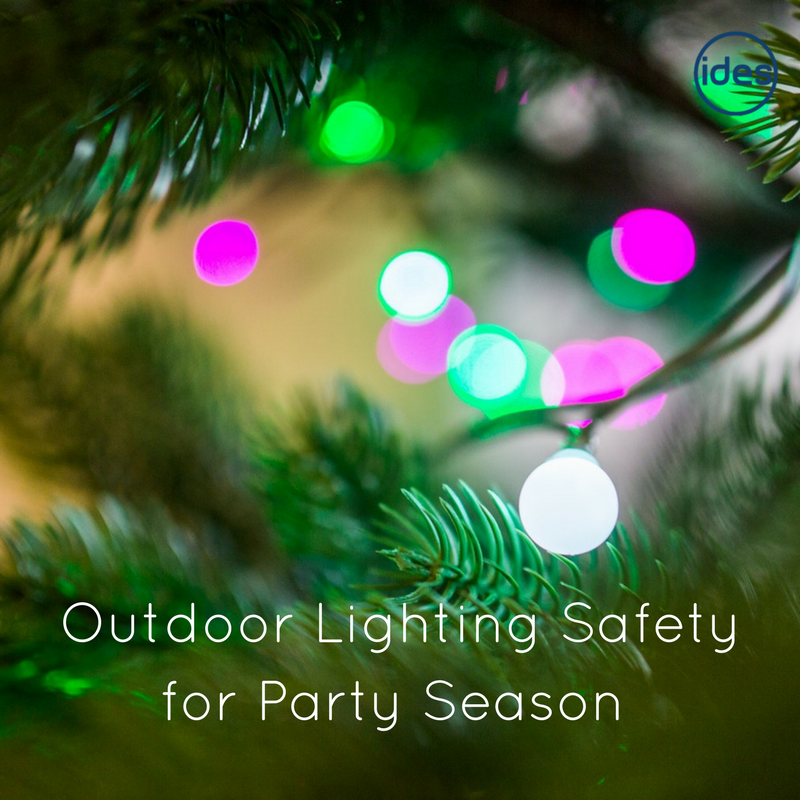 Images illustrating a blog about outdoor lighting and external lighting services
