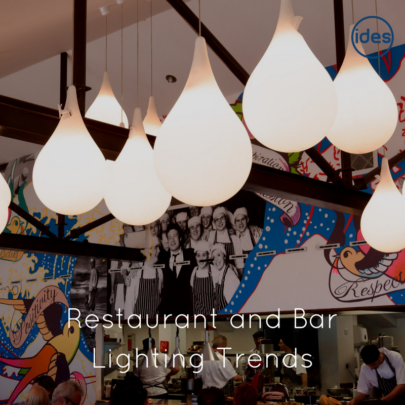 Provider of commercial lighting services, IDES UK take a look at some of the trends in lighting across the hospitality sector.