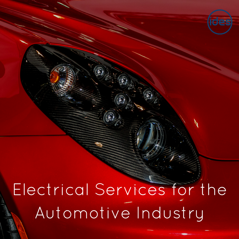 Image illustrating a blog post by IDES UK about the auto industry and the specialist automotive electrical services they supply