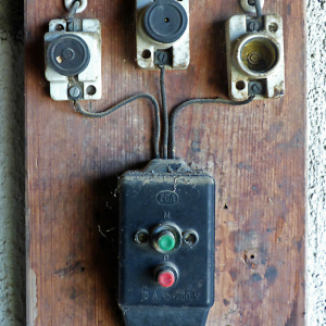 old faulty looking electrics