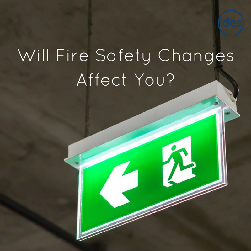Images illustrating a blog about fire alarms and fire safety standards