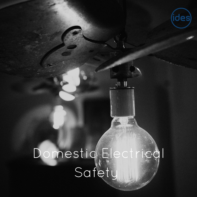 Photo illustrating a blog about domestic electrical safety