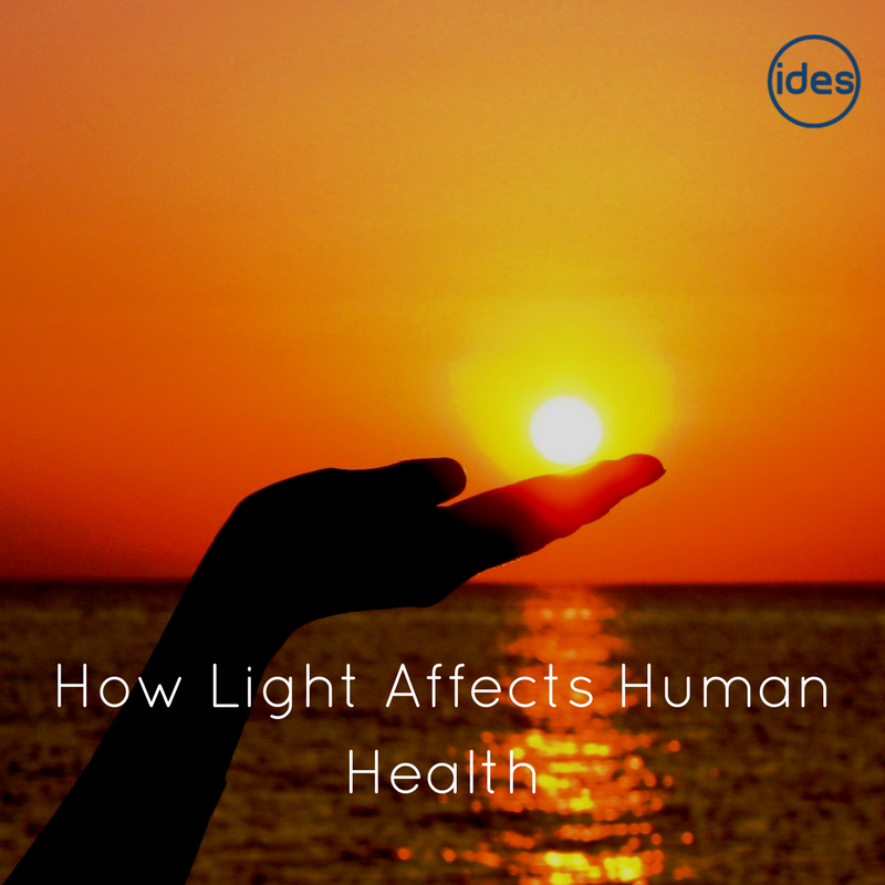 a blog from commercial lighting specialists IDES UK on how light affect human health
