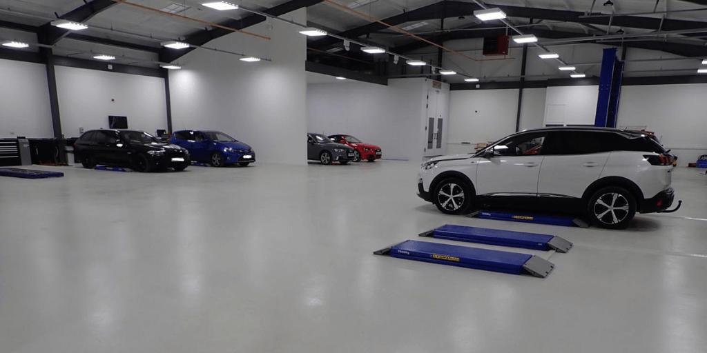 car body shop lighting
